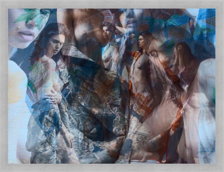 GEISHA IN KIMONO by Emir Sergo  - large Gallery print  on fine-art photo paper  behind Acrylglas framed